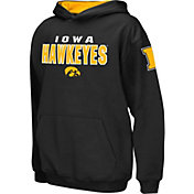 Colosseum Boys' Iowa Hawkeyes Black Pullover Hoodie