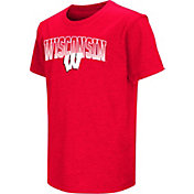Colosseum Youth Wisconsin Badgers Red Dual Blend T-Shirt