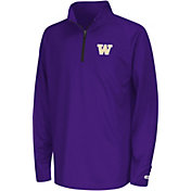 Colosseum Youth Washington Huskies Orange Draft Performance Quarter-Zip