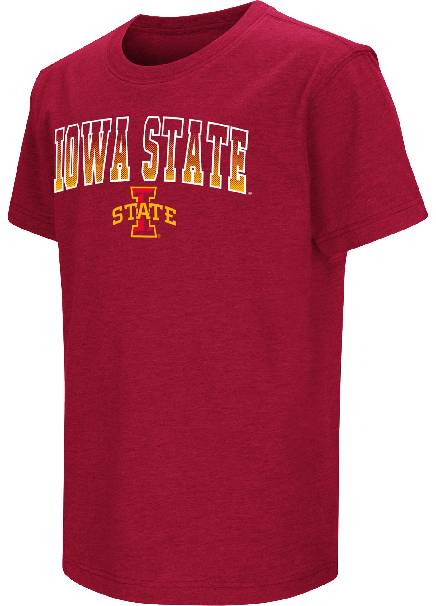 Colosseum Youth Iowa State Cyclones Cardinal Dual Blend T-Shirt