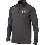 Columbia Men's Cincinnati Reds Top Of The Green Grey Quarter-Zip Performance Pullover