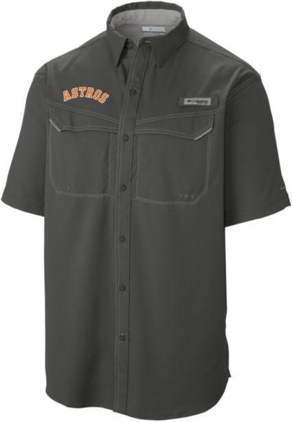 f66266064 Columbia Men s Houston Astros Low Drag Offshore Performance Short Sleeve  Shirt. noImageFound