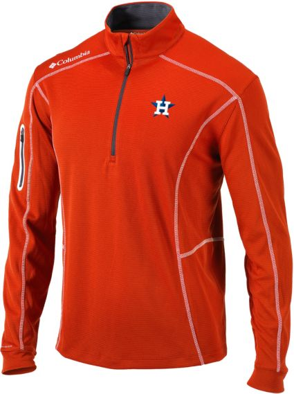 Columbia Men's Houston Astros Orange Shotgun Quarter-Zip Performance Pullover