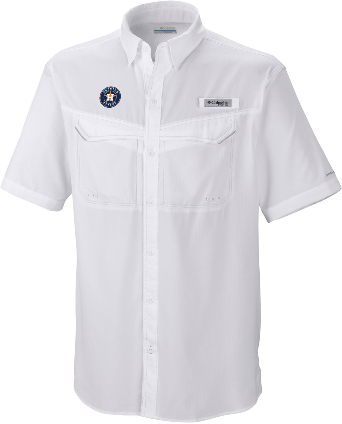 Columbia Men's Houston Astros Low Drag Offshore Performance Short Sleeve Shirt