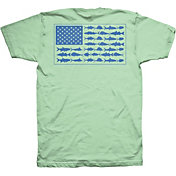 Columbia PFG Americana Saltwater Fish Flag T-Shirt