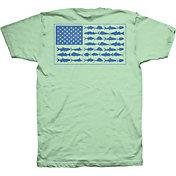 Columbia Men's PFG Americana Saltwater Fish Flag T-Shirt