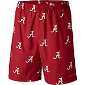 Columbia Men's Alabama Crimson Tide Crimson Backcast II Printed Performance Shorts