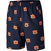 Columbia Men's Auburn Tigers Blue Backcast II Printed Performance Shorts