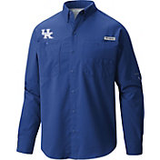 Columbia Men's Kentucky Wildcats Blue Tamiami Long Sleeve Shirt