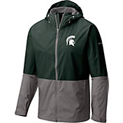 Columbia Men's Michigan State Spartans Green/Grey Roan Mountain Jacket