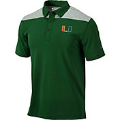 Columbia Men's Miami Hurricanes Green Tech Utility Polo