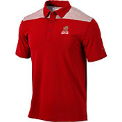 Columbia Men's Maryland Terrapins Red Tech Utility Polo