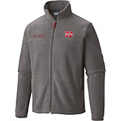 Columbia Men's Nebraska Cornhuskers Grey Flanker II Full-Zip Fleece