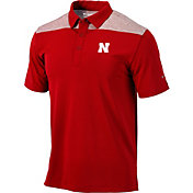 Columbia Men's Nebraska Cornhuskers Scarlet Tech Utility Polo