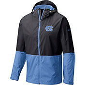 Columbia Men's North Carolina Tar Heels Black/Carolina Blue Roan Mountain Jacket