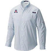 Columbia Men's Arizona Wildcats Navy Super Tamiami Performance Long Sleeve Shirt