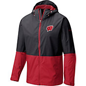 Columbia Men's Wisconsin Badgers Black/Red Roan Mountain Jacket