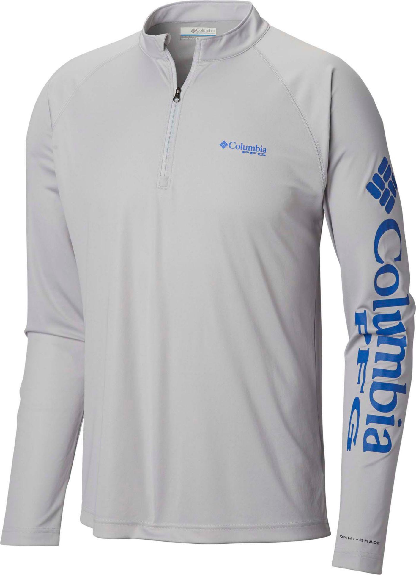 Columbia Men's Terminal Tackle Quarter Zip Long Sleeve Shirt (Regular and Big & Tall)
