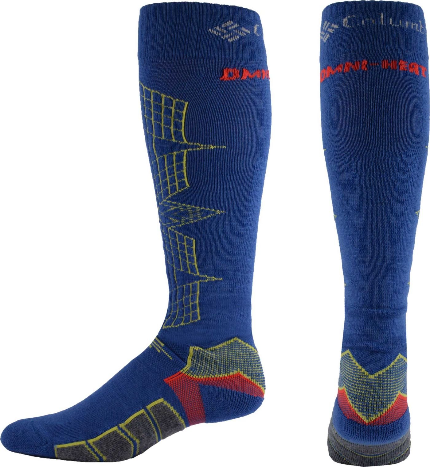 Columbia Omni-Heat Ski Optical Grid Over-the-Calf Socks