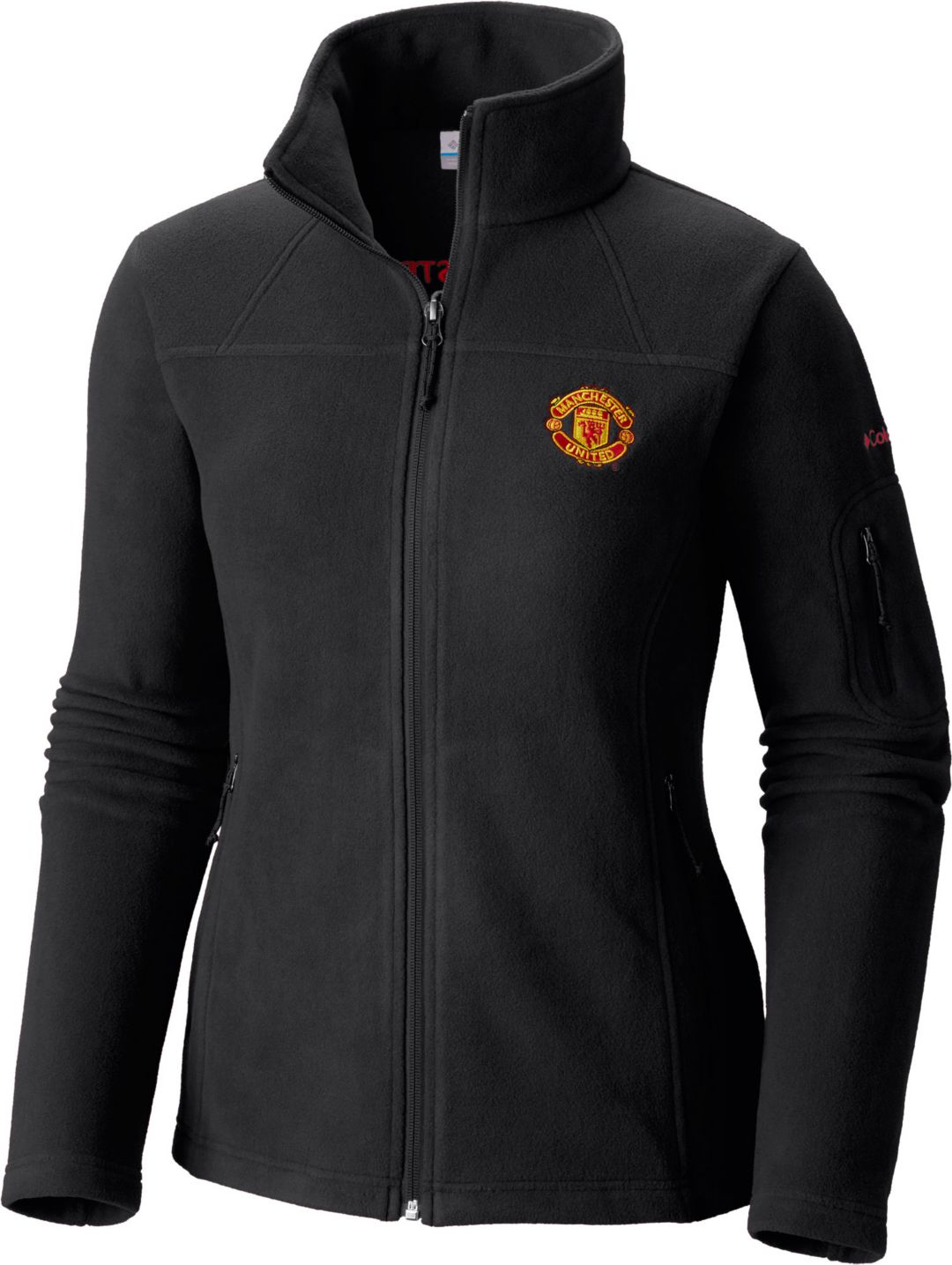 459aa484b Columbia Women's Manchester United Fast Trek II Full Zip Black Fleece Jacket