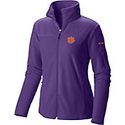 Columbia Women's Clemson Tigers Regalia Give and Go Full-Zip Fleece