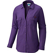 Columbia Women's LSU Tigers Purple Sun Drifter Long Sleeve Shirt