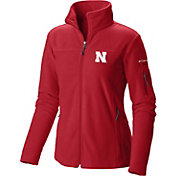 Columbia Women's Nebraska Cornhuskers Scarlet Give and Go Full-Zip Fleece