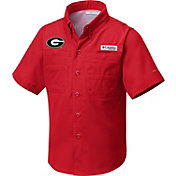 Columbia Youth Georgia Bulldogs Red Tamiami Performance Shirt