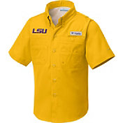 Columbia Youth LSU Tigers Gold Tamiami Performance Shirt