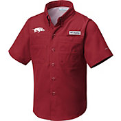 Columbia Youth Arkansas Razorbacks Cardinal Tamiami Performance Shirt