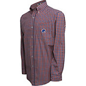 Campus Specialties Men's Boise State Broncos Blue Multi-Checkered Woven Long Sleeve Shirt