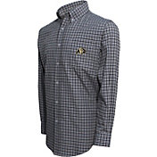 Campus Specialties Men's Colorado Buffaloes Black Multi-Checkered Woven Long Sleeve Shirt