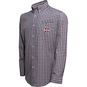 Campus Specialties Men's Mississippi State Bulldogs Maroon Multi-Checkered Woven Long Sleeve Shirt