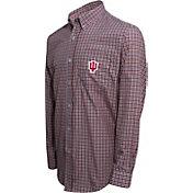 Campus Specialties Men's Indiana Hoosiers Crimson Multi-Checkered Woven Long Sleeve Shirt