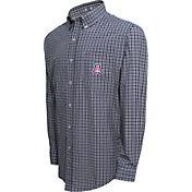 Campus Specialties Men's Arizona Wildcats Navy Multi-Checkered Woven Long Sleeve Shirt