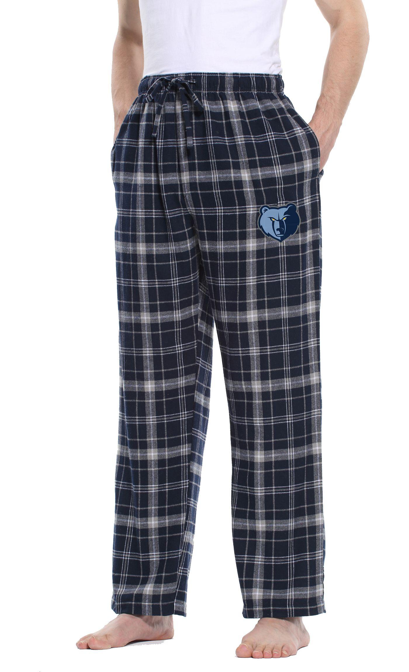Concepts Sport Men's Memphis Grizzlies Plaid Flannel Pajama Pants