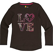 Carhartt Little Girls' Camo Love Long Sleeve T-Shirt