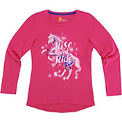 Carhartt Little Girls' Rise & Ride Horse Long Sleeve Shirt