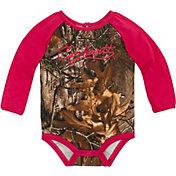 Carhartt Infant Girls' Camo Raglan Long Sleeve Onesie