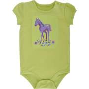 Carhartt Infant Girls' I Heart Horses Bodysuit