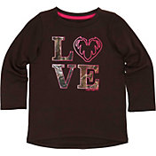Carhartt Toddler Girls' Camo Love Long Sleeve T-Shirt