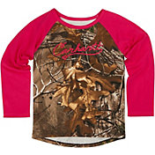 Carhartt Toddler Girls' Camo Raglan Long Sleeve Shirt