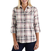 Carhartt Women's Fairview Plaid Woven Long Sleeve Shirt