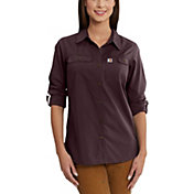Carhartt Women's Force Ridgefield Button Down Long Sleeve Shirt