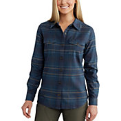 Carhartt Women's Rugged Flex Hamilton Flannel Long Sleeve Shirt