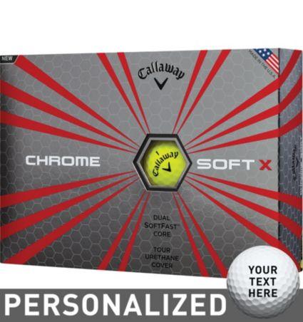 Callaway Chrome Soft X Yellow Personalized Golf Balls