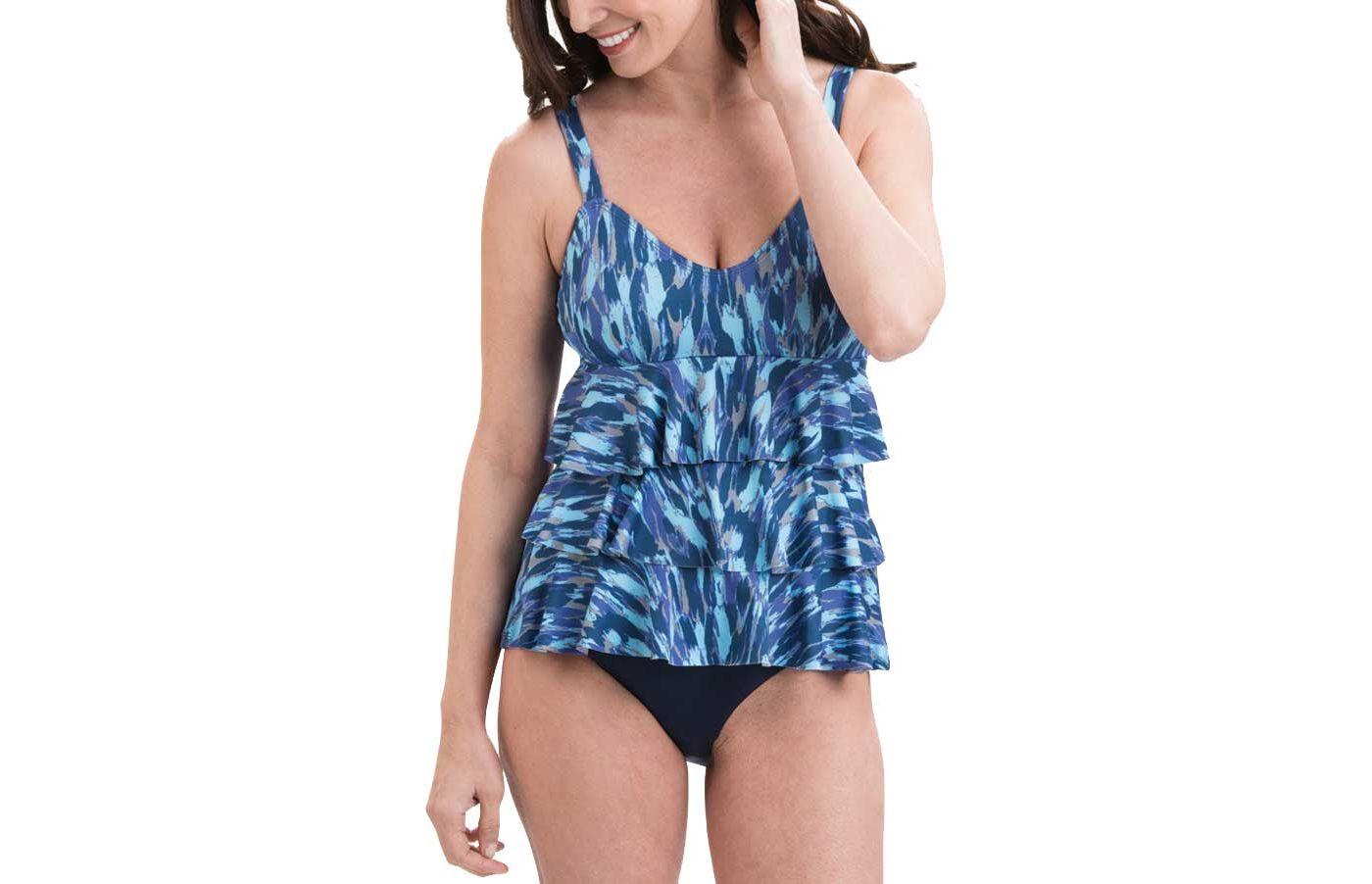 Dolfin Women's Aquashape Ruffle Swimsuit