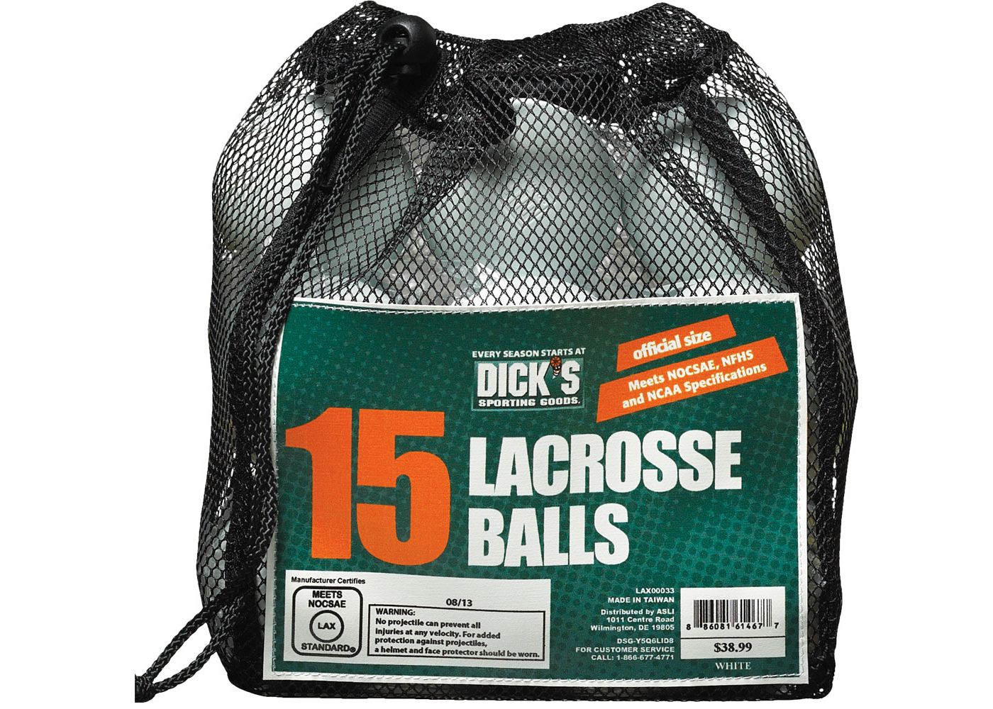 DICK'S Sporting Goods 15-Pack Lacrosse Balls