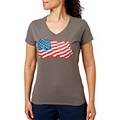 Dick's Sporting Goods Women's Americana V-Neck Short Sleeve T-Shirt