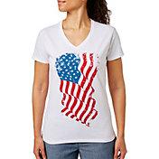 Dick's Sporting Goods Women's Americana V-Neck Short Sleeve T-Shirt